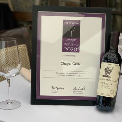 Wine Spectator 2020 Award of Excellence Winner!
